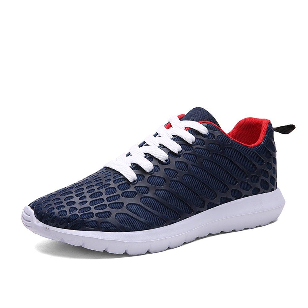Dannto Herren Damen Sneakers Bequeme Freizeit Schnuuml;rer Profilsohle Laufschuhe Sportschuhe Turnschuhe  43 EU|blau-C