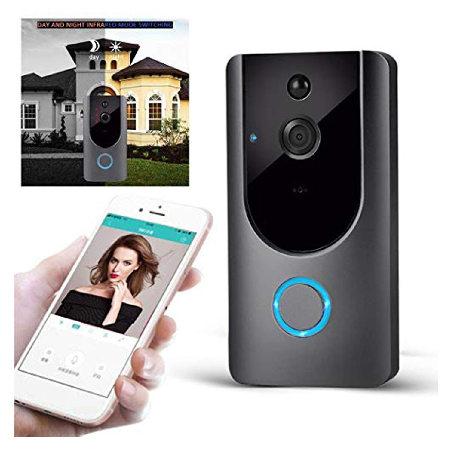 M2 Wireless Visual Smart Doorbell Alarm Wifi Mobile Phone Remote Monitoring