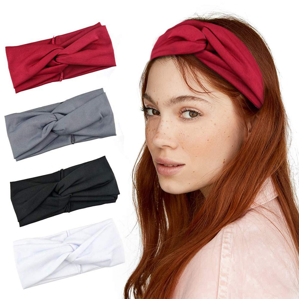 Women Men Sport Workout Headband Non Slip Lightweight Soft Wicking Stretchy Multi Style Bandana Head Wrap Ideal for Yoga//Pilates//Dancing//Running//Cycling//Fitness Exercise//Travel