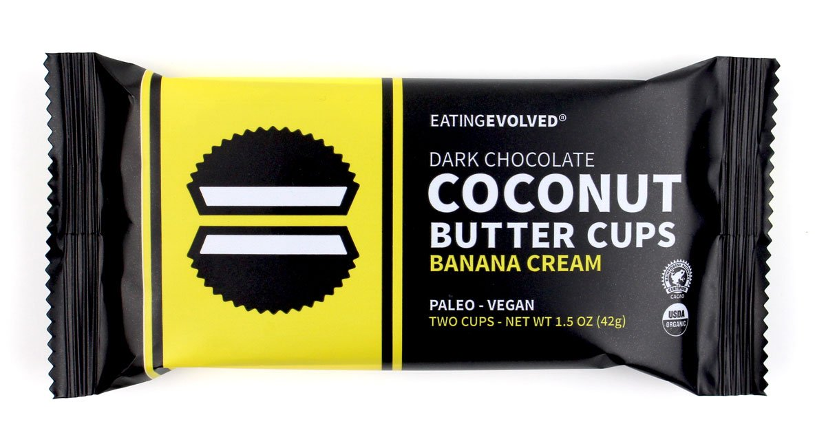 Eating Evolved - Organic Coconut Butter Cups, Banana Cream, 1.5 oz each (9 Count)