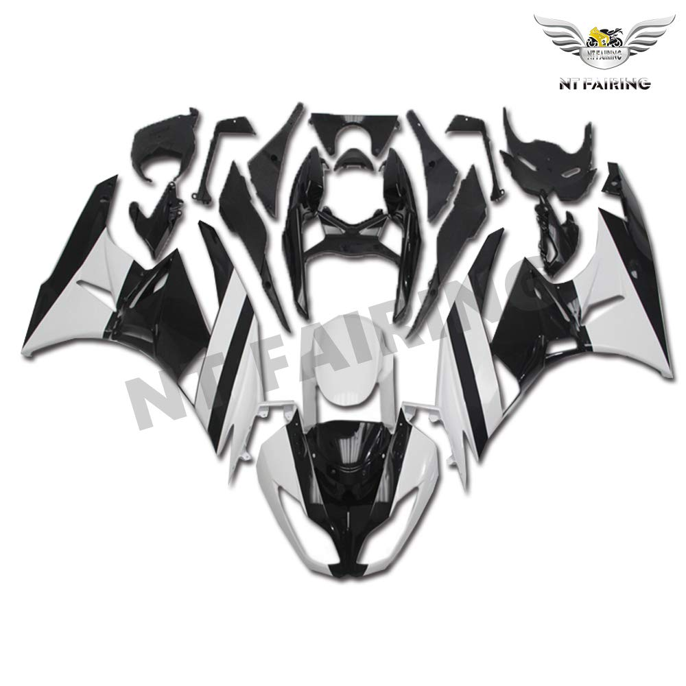 Amazon.com: NT FAIRING White Black Fairing Fit for KAWASAKI ...