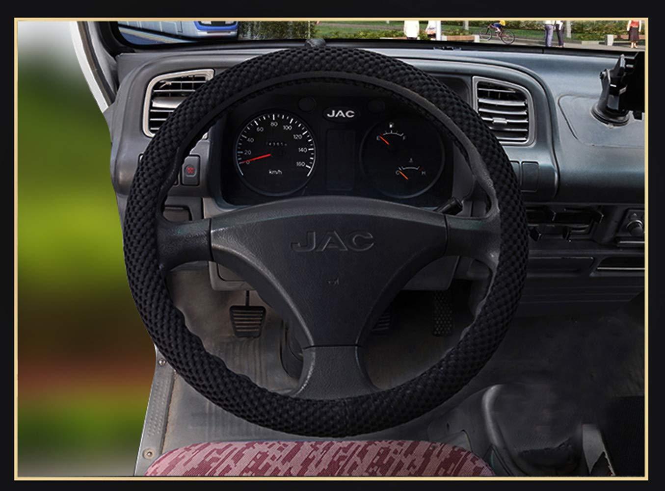 ZJWZ Cubierta De Volante De Coche De Seda De Hielo Transpirable, Four Seasons Universal 3D Antideslizante Malla Camión Manejar,45Cm: Amazon.es: Hogar