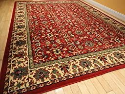 Red Traditional Rug Large Red 8x11 Persian Rug Red Rugs for Living Room 8x10 Area Rugs Clearance Under 100 (Large 8\'x11\' Rug)