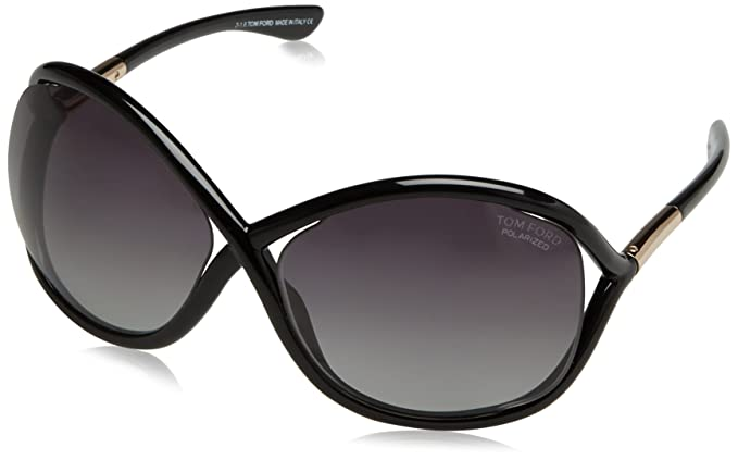 9eac199d44e68 Image Unavailable. Image not available for. Colour  TOM FORD FT0009 WHITNEY  01D - shiny black   smoke polarized Injected