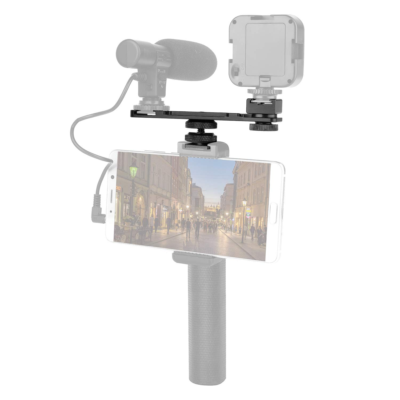 4 Pack ChromLives Camera Hot Shoe Mount Hot Shoe Adapter w// 1//4 20 Tripod Screw Flash Shoe Mount Monitor Bracket