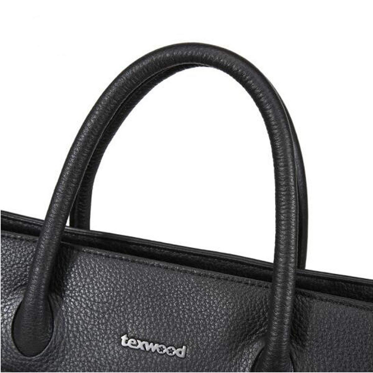 New Mens Portable Large Capacity Mens Computer Bag Exquisite Casual Suede Leather Mens Handbag Black Size: 38.56.528.5cm Kehuitong Briefcase Color : Blue