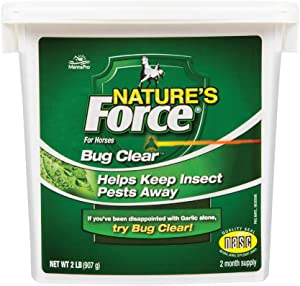 Manna Pro Nature's Force Bug Clear | All Natural Equine Supplement for Insect Control | 2 Pounds