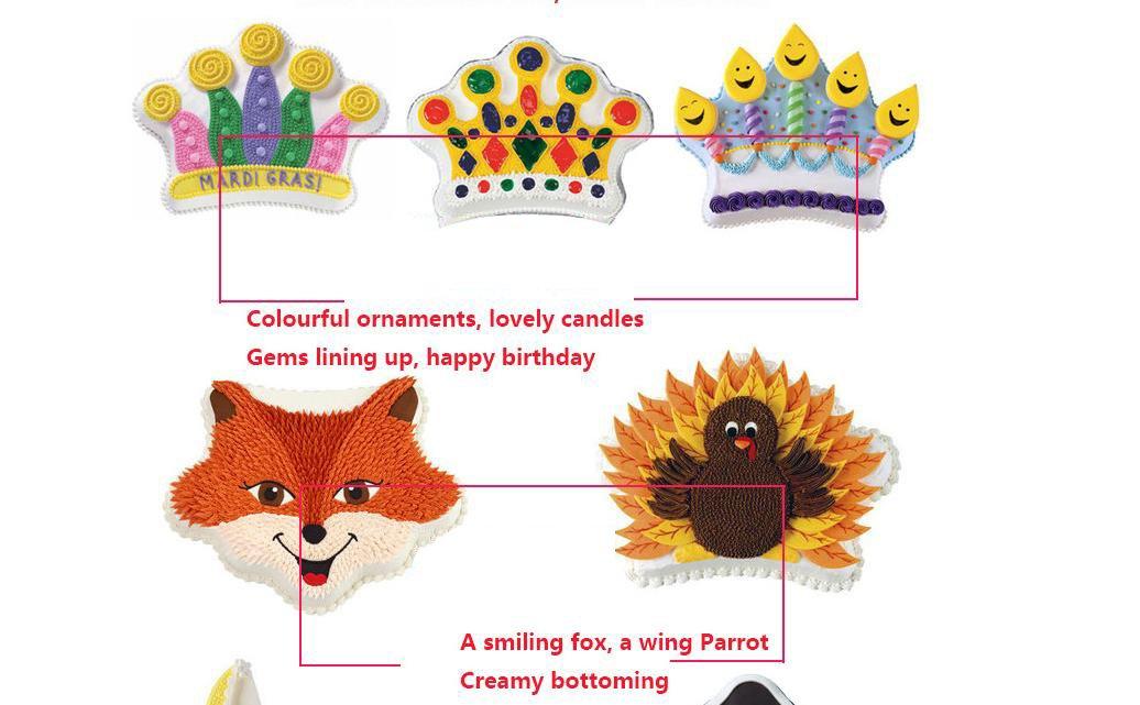 Bakesty Non-stick Bakeware, Kids 3D Birthday Cake Pan Cake Tin, Aluminum Baking Molds Cake Mold for Family School Parties, Silver. (Crown)