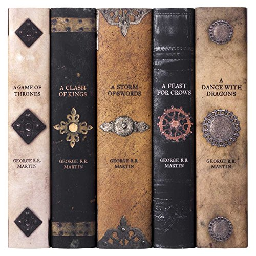 Game of Thrones | Five-Volume Hardcover Book Set with Custom Designed Juniper Books Dust Jackets | Author George R. R. Martin (Game Of Thrones Board Game Storm Of Swords)