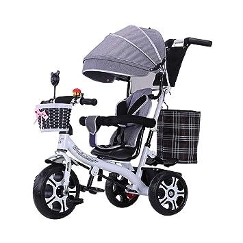 4-en-1 Triciclo para niños Asiento Giratorio para niños 3 Ruedas Rueda Bicicleta