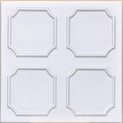 "Ceiling Tiles Decorative DIY Styrofoam Glue Up MARGARETTA 20/"" x 20/"" White"