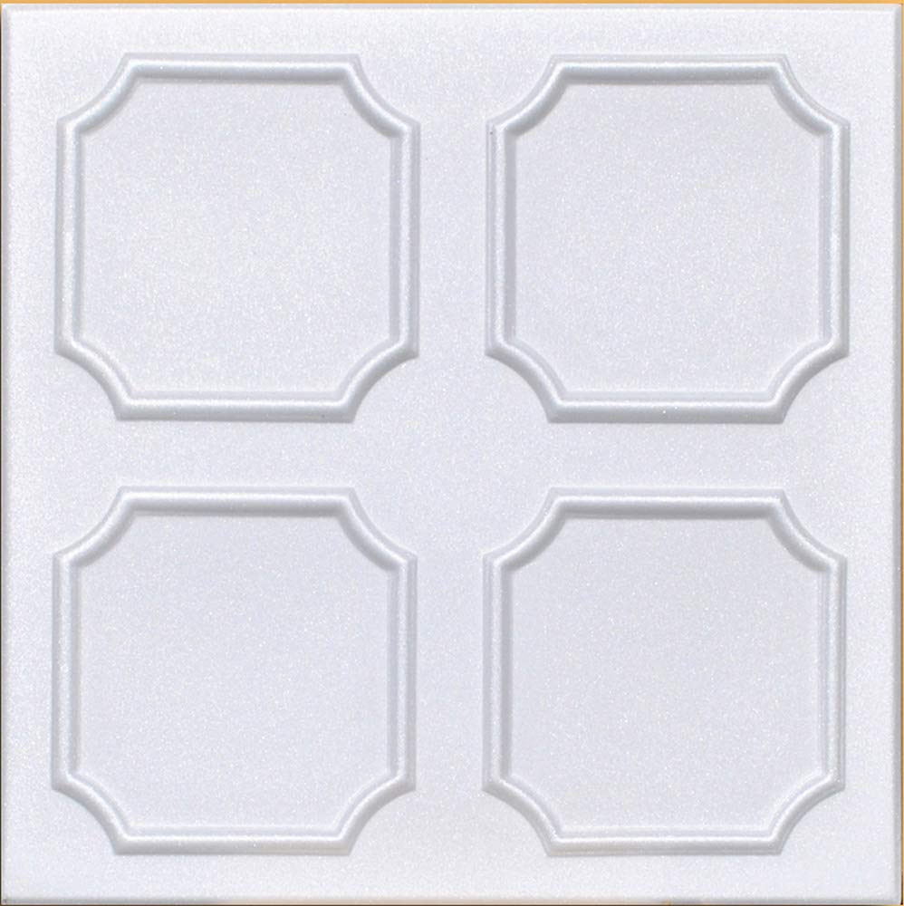50pc of Alfa White (20''x20'' Foam) Ceiling Tiles - Covers About 135sqft
