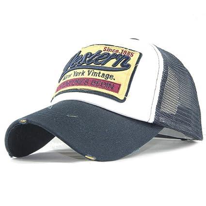 Amlaiworld Gorras Gorra de Beisbol Verano Bordada de Malla Sombreros para  Hombres Mujeres Sombreros Casuales Gorras de d056eb4afcf