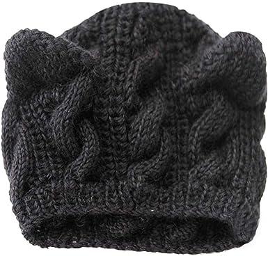 Les Femmes Béret Crochet Baggy Beanie Chapeau D/'Hiver Tricoté Souple Chaud loose Ski Cap