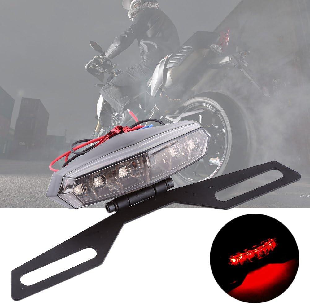 soporte de soporte de placa de matr/ícula luz azul roja SANON luz de freno trasera de motocicleta 1 pieza motocicleta bicicleta de tierra luz de freno trasera led