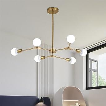 LED moderna E27 × de 6 focos Simplicidad creativos - Lámpara de ...