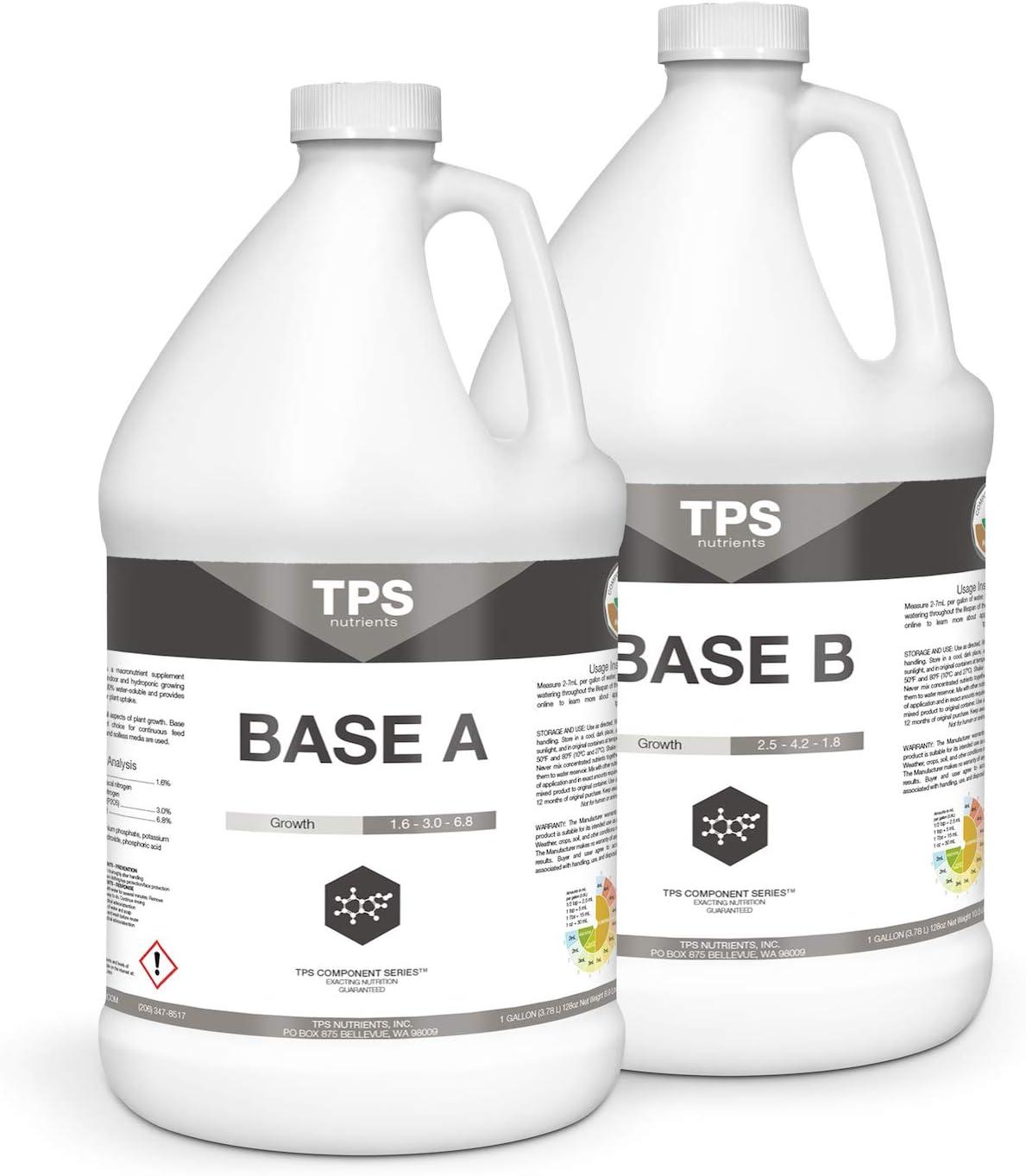 TPS Base A+B Set Complete Plant Growing Nutrient Formula, Gallon (2 x 128 oz)