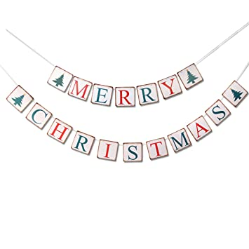 Frohe Weihnachten Girlande.Weihnachten Banner Frohe Weihnachten Bunting Banner Girlande Party Requisiten Retro Bunting Home Holiday Decor Dekorationen