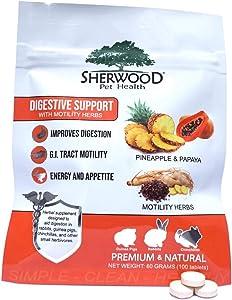 Sherwood Pet Health Digestive Support, Papaya (100 Tablets - 60 Grams)