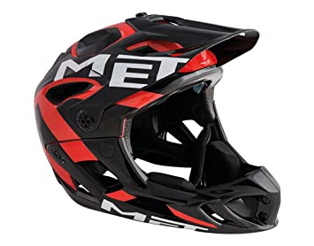 Met Parachute Full Face DH MTB Helmet (Black / Red, M 54-58