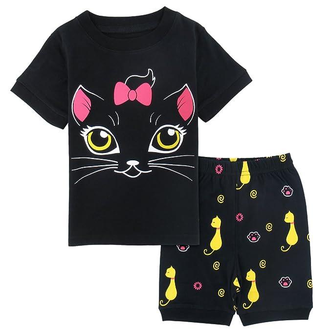 b79fec17be97 Mombebe Kids Girls Unicorn Pyjamas Set Long Sleeve Sleepwear Size 2-7  Years: Amazon.co.uk: Clothing