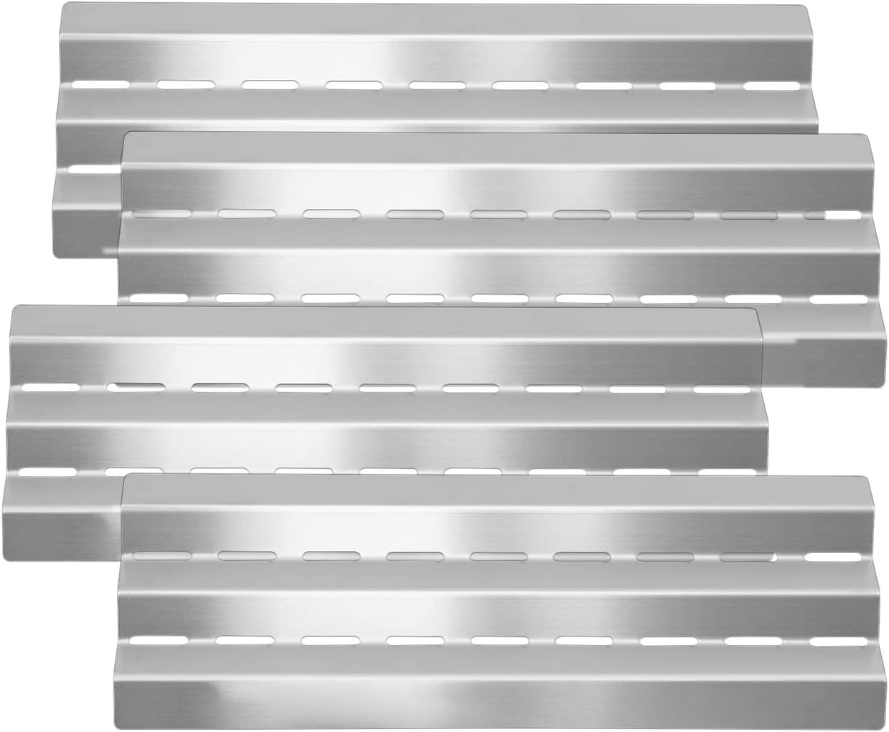 Kalomo Stainless Steel Grill Heat Plate Shield Burner Cover Heat Tent, BBQ Gas Grill Replacement Parts for Master Forge, Lowes, Perfect Flame, Huntington 6761-64, GrillPro 235089S, 17-9/16