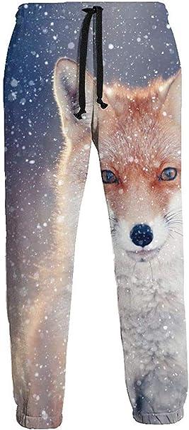 Red Fox In Snow Pantalones de Chándal Athletic Jogger Pant ...