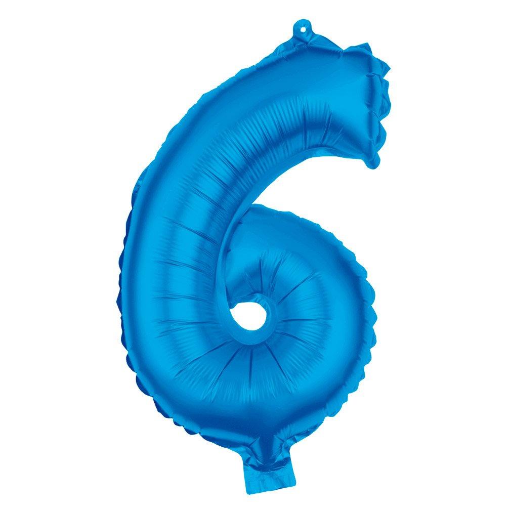 Folienballon Zahl 0-9 XXL Blau 80cm Party Helium Luftballons Geburtstag Deko