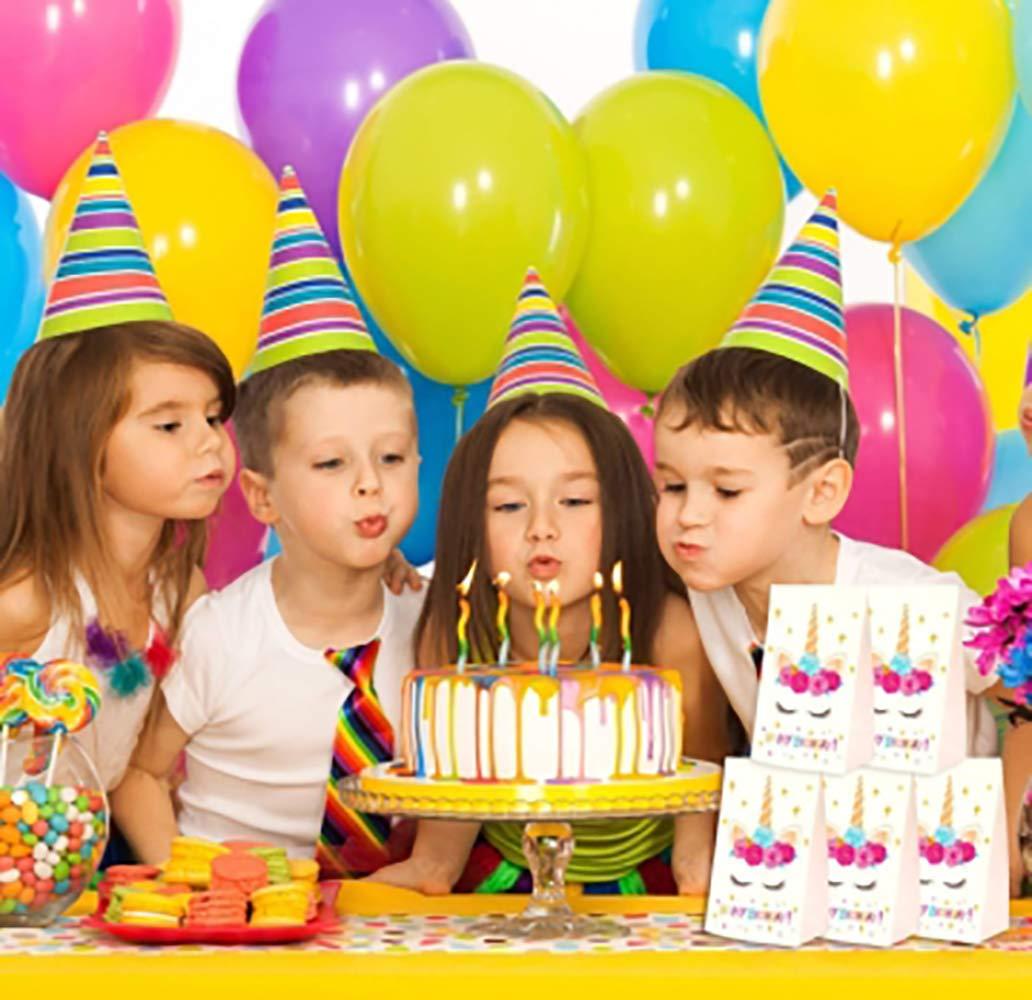 Shuny 25 Piezas Bolsa Regalo Bolsa Dulces,Bolsas de Papel de Unicornio con Mango,Bolsas Papel Unicornio,para Fiesta Cumplea/ños Party Caramelo