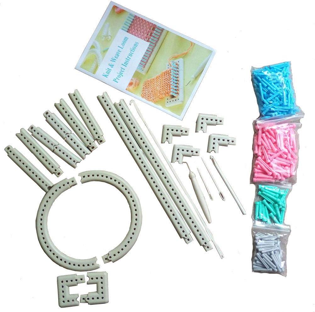 Amazon Com Wayion Multi Function Craft Yarn 5000 100 Martha Stewart Crafts Knit And Weave Loom Kit Diy Tool