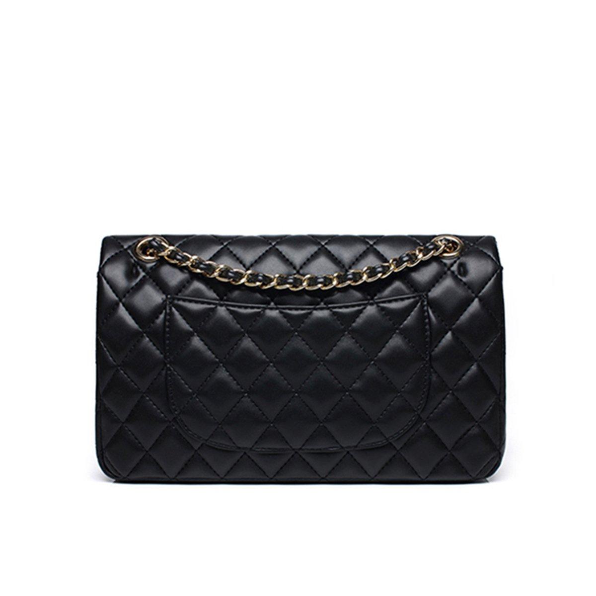 dfa0184fca4cbe Women's Chain Quilted PU Leather Shoulder Bag: Handbags: Amazon.com