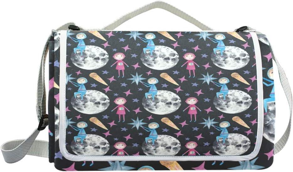 XINGAKA Coperta da Picnic Tappetino Campeggio,Zigzag di Motivo Senza Cuciture Arcobaleno dell'acquerello,Giardino Spiaggia Impermeabile Anti Sabbia 7