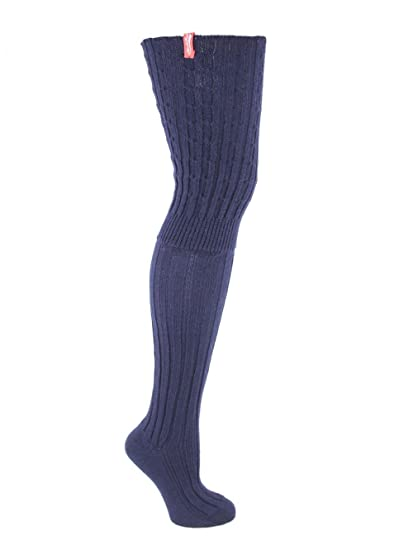 568c6ff5e69a2 Rockfish Luxury Merino Wool Women's Over The Knee Socks Thigh High Mrs  Robinson 4 Colours (