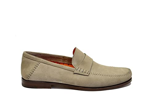 Santoni - Mocasines para hombre beige beige IT - Marke Größe, color beige, talla 42.5 IT - Marke Größe 8.5: Amazon.es: Zapatos y complementos