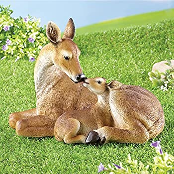 Collections Etc Deer and Fawn Garden Statue Woodland Decoration for Yard, Flowerbed