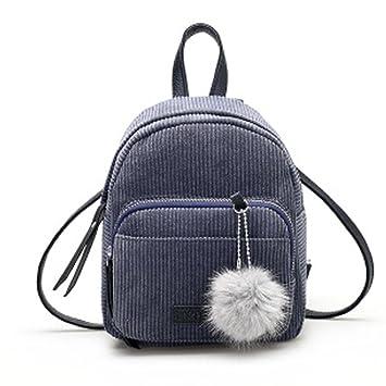 Mochilas Mujer Bolsa de viaje Bolsa de hombro Bolso pequeño de Corduroy LMMVP (24cm*20cm*10cm, Gris): Amazon.es: Hogar