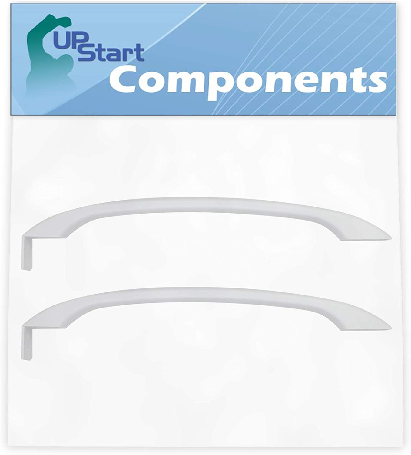 UpStart Components Brand 2-Pack 218428101 Refrigerator Door Handle Replacement for White Westinghouse WRT21S4AW0 Refrigerator Compatible with 218428101 White Door Handle