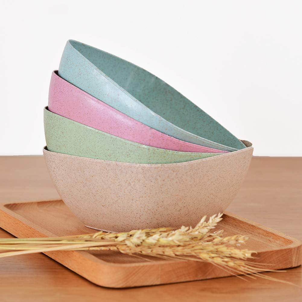 pour riz fruits respectueux de lenvironnement couleur unie Shymaoyi Bol alimentaire de forme carr/ée bonbons rose soupe