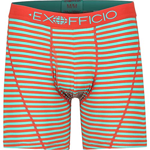 ExOfficio Give-N-Go Sport Mesh 6in Boxer Brief - Mens, Maui Double Stripe, Medium, 12453043-6305-M