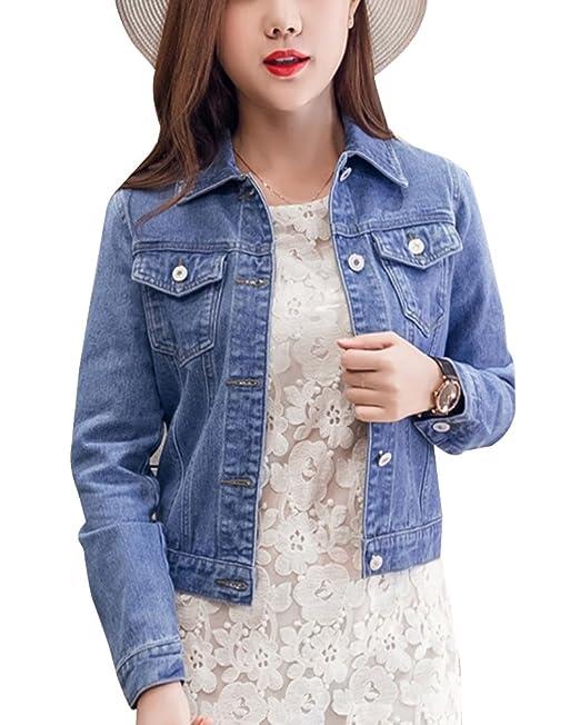 VERO MODA Damen Kurz-Jacke Jeans-Jacke Übergangsjacke Denim blau schwarz weiss