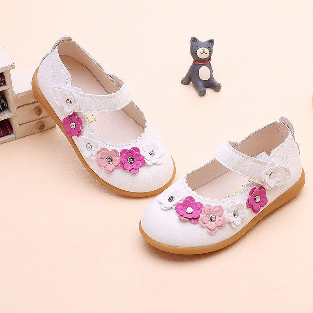 f71b76b399f62 KVbaby Enfants Flat Princess Chaussures Fille Semelles Souples Mary Jane  Ballerine Floral Décor Chaussures en Cuir  Amazon.fr  Chaussures et Sacs