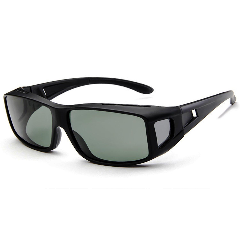 65d91e12cabb Wear Over Glasses Sunglasses - Polarized - Fit Over Prescription Glasses UV  Protection Sunglasses at Amazon Women s Clothing store