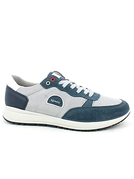 IGI&CO Sneaker in Camoscio e Rete Blu N. 43: Amazon.it