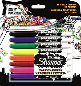 sharpie stained fabric marker assorted colours good for