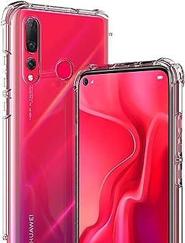 WUFONG Funda para Huawei Nova 5,Estuche para teléfono móvil,Caja del teléfono móvil Ultrafina Totalmente Transparente, Cubierta de airbag de Cuatro Esquinas Gruesa: Amazon.es: Electrónica
