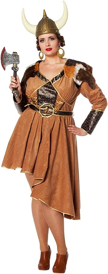 Wilbers Disfraz de Vikingo para Mujer: Amazon.es: Juguetes y juegos