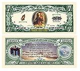 Set of 5 Bills-Jesus 7 Dollar Bill