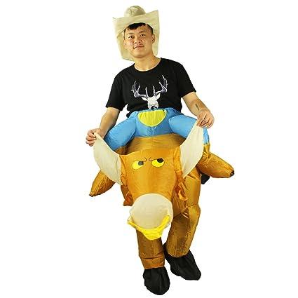 Amazon.com: Disfraz Hinchable Bull Rider adulto disfraz ...
