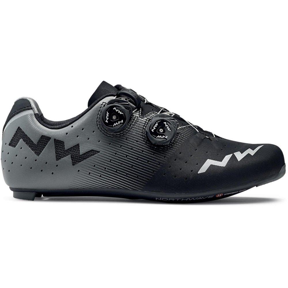 zapatos de bicicleta de carretera NORTHWAVE Revolution Road negro   antracita