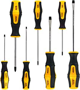 Acekit Screwdriver Set Magnetic Screwdriver Tips Comfortable Non-slip Ergonomic Handle Heavy Duty Repair Tool For Electronic Products And Home Appliances-7pcs Set